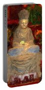 Buddha In Red Portable Battery Charger