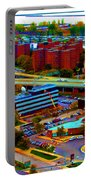 Buffalo New York Aerial View Neon Effect Portable Battery Charger
