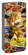 Bugs On Postage Stamps Portable Battery Charger