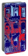 Building Facade In Blue And Red Portable Battery Charger