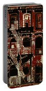 Building Facade In Brown And Red Portable Battery Charger