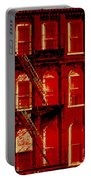 Building Facade In Red And White Portable Battery Charger