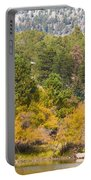 Bull Elk Lake Crusing With Autumn Colors Portable Battery Charger