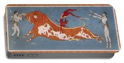 Bull-leaping Fresco From Minoan Culture Portable Battery Charger