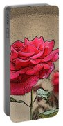 Bumble Bee And Rose Portable Battery Charger