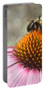 Bumble Bee Feeding On A Coneflower Portable Battery Charger