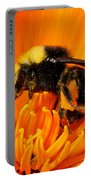 Bumblebee On Flower Portable Battery Charger