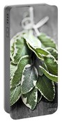 Bunch Of Fresh Sage Portable Battery Charger