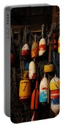 Buoys On Fishing Shack - Greeting Card Portable Battery Charger
