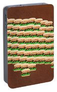 Burger Town Usa Map Brown Portable Battery Charger
