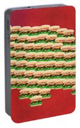 Burger Town Usa Map Red Portable Battery Charger