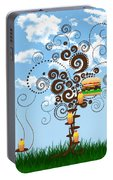 Burger Tree House And The Cupcake Kids  Portable Battery Charger