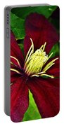 Burgundy Clematis Portable Battery Charger