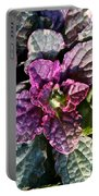 Burgundy Glow Bugleweed Portable Battery Charger