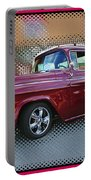 Burgundy Hot Rod Pick Up Abstract Portable Battery Charger