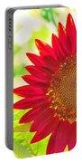 Burgundy Sunflower Portable Battery Charger