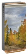 Burning Autumn Aspens Back Country Colorado Window View Portable Battery Charger