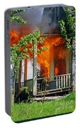 Burning House Portable Battery Charger