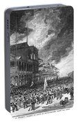 Burning Of Colon, 1885 Portable Battery Charger