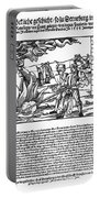 Burning Of Witches, 1555 Portable Battery Charger