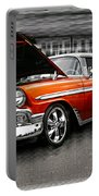Burnt Orange Chevy Abstract Portable Battery Charger