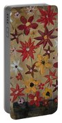 Burst Of Flowers Yellow And Red Portable Battery Charger