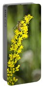 Busy Bee On Yellow Wildflower Portable Battery Charger