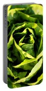 Buttercrunch Lettuce From Above Portable Battery Charger