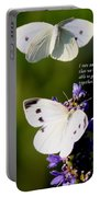 Butterflies - Cabbage White - Enjoyed The Togetherness Portable Battery Charger