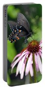 Butterfly And Coine Flower Portable Battery Charger