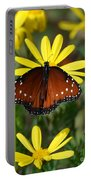Butterfly And Yellow Flowers Portable Battery Charger