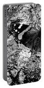 Butterfly Bark Black And White Portable Battery Charger