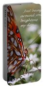 Butterfly Friendship Card Portable Battery Charger