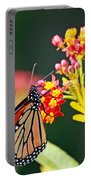 Butterfly Monarch On Lantana Flower Portable Battery Charger