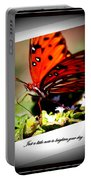 Butterfly Note Card Portable Battery Charger