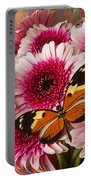 Butterfly On Pink Mum Portable Battery Charger