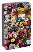 Buttons And Dice Portable Battery Charger