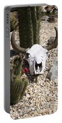 Cactus And Cow Skull Portable Battery Charger