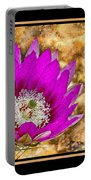 Cactus Flower 4 Portable Battery Charger