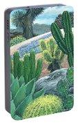 Cactus Garden Portable Battery Charger