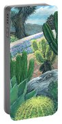 Cactus Garden Portable Battery Charger by Snake Jagger