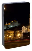 Calahorra Cathedral At Night Portable Battery Charger