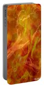 Caliente On Fire With Butterflies Portable Battery Charger