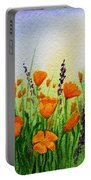California Poppies Field Portable Battery Charger