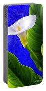 Calla Over Blue Portable Battery Charger