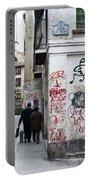 Calle Alvaro De Bazan Graffiti Portable Battery Charger