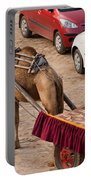 Camel Ready To Take Tourists For A Desert Safari Portable Battery Charger