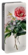 Camellia And Broom Portable Battery Charger by Marie-Anne