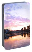 Camp Fire Sunset Portable Battery Charger