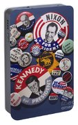 Campaign Buttons Portable Battery Charger